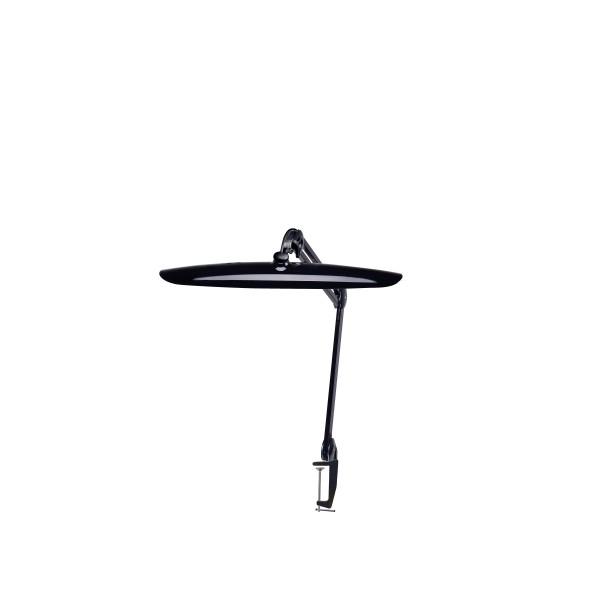 Manicure werklamp op tafelklem met dimmer (zwart)