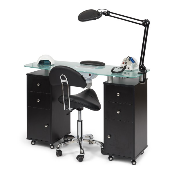 Complete manicure salon DeLUX zwart